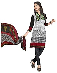 VSS Collections Women's Synthetic Unstitched Dress Material(1065,Multi-Color)