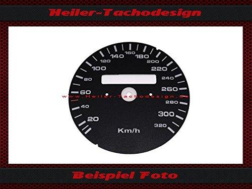 Tachoscheibe Porsche 911 964 993 Turbo Carrera S ohne Tageskilometerzähler Mph zu Kmh