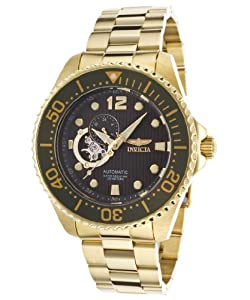 Invicta Men's 15399 Pro Diver Analog Display Japanese Automatic Gold Watch
