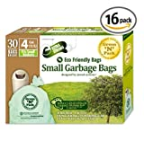Green N Pack Eco Friendly Small Garbage Bags 4 Gallon 30-Count Boxes (Pack of 16)