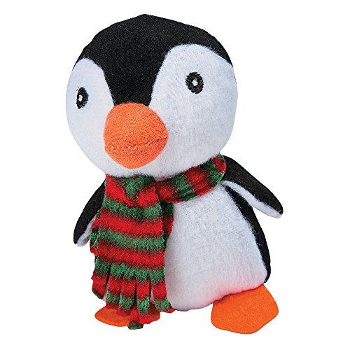 Plush-Penguins-with-Plaid-Scarf