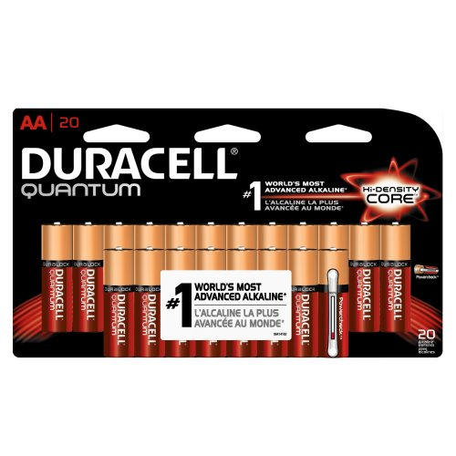Duracell Quantum Qu1500B20Z10 Alkaline-Manganese Dioxide Aa Battery, 1.5V, -4 To 130 Degrees F (Pack Of 20)