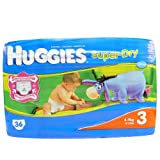 Huggies Super-Dry Nappies Size 3 Conveniecne Pack 36 Nappies
