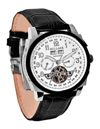 Millage Tourbillion Collection IP Black & Silver On White On Black