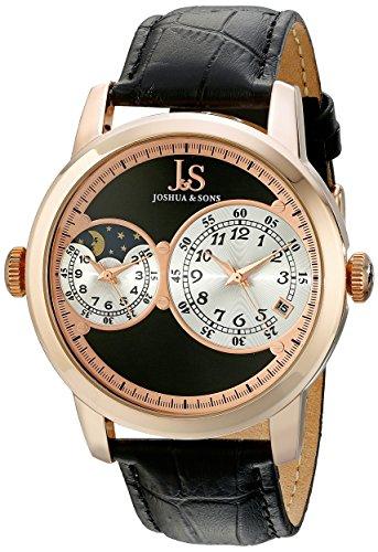 Joshua & Sons Reloj de cuarzo JS87RG Negro 44  mm