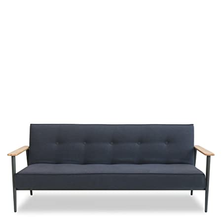 Canapé convertible design scandinave Osborn - Couleur - Gris anthracite