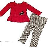 Fisher Price Girl's Kitten Pant Set Red