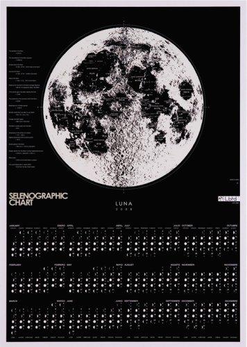 LbTD月面図カレンダー 2008/LUNA-SELENOGRAPH CHART