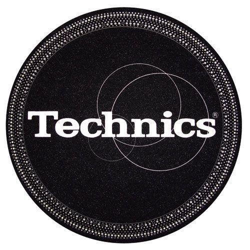 Slipmat Technics strobo nero-argento (Confezione da 2)