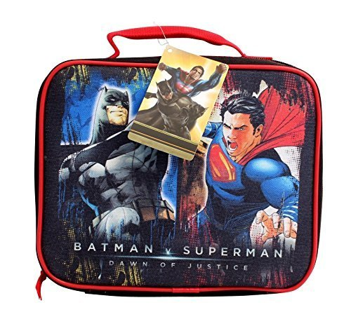 DC Comincs Batman v Superman Dawn of Justice Insulated Soft Lunch Bag at Gotham City Store