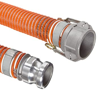 Unisource 1580 PVC Suction/Discharge Hose Assembly, Aluminum Cam And Groove Connection