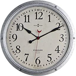 Better Homes and Gardens Galvanized Wall Clock 15.5\