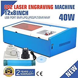 Eteyo Engraving Cutting Machine Parallel Port Support Laser Engraver with Usb Co2 Laser 40w 200*300mm