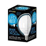 STYLED LED電球(昼光色相当・ボール電球100W相当) E26口金 ボール電球タイプ G95 14.2W 1450lm LDG100D1