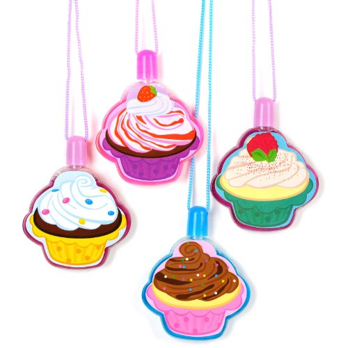 Cupcake Bubble Necklaces Assorted (12)