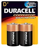 CopperTop Alkaline Batteries with Duralock Power Preserve Technology, D, 2/Pack, Sold as One Pack