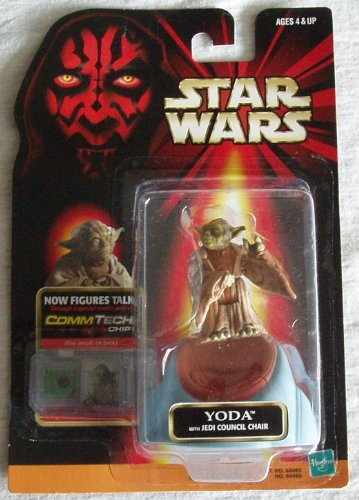 Star Wars Episode 1 Comtech Basic Figure Yoda - 1