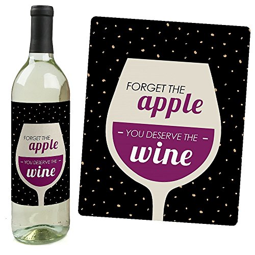 Teacher Appreciation - Teacher Christmas Gift - Wine Bottle Labels - Set of 4