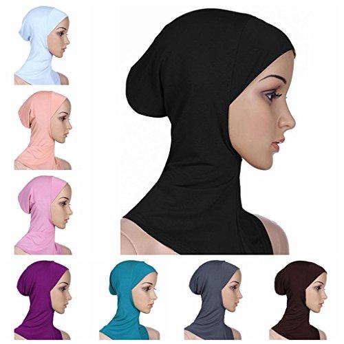BaiTe-Islamisch-Stil-Kopftuch-Hijab-kopftcher-Leicht-Unter-Schal-Knochen-Bonnet-4-pcs