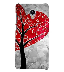 ANIMATED HEART SHAPED TREE LEAVES 3D Hard Polycarbonate Designer Back Case Cover for Meizu m3 note::Meizu Blue Charm Note3