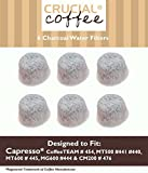 6 Capresso 4440.90 Charcoal Coffee Filters, Fits TEAM # 454, Designed & Engineered by Crucial Coffee
