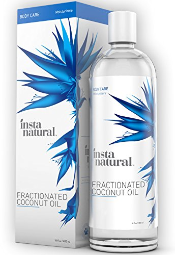 InstaNatural Fractionated Coconut Oil - 100% Pure - Liquid Moisturizer for Skin, Face, Body & Nails - Dry & Damaged Hair Conditioner - Use as Shave Gel, Massage & Bath Oils - Easy Baby Use - 16 OZ (Almond Oil Quart compare prices)