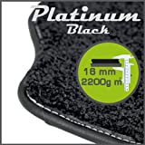 Volvo C30 (Manual) 2007 to Current Platinum Black Tailored Floor Mats
