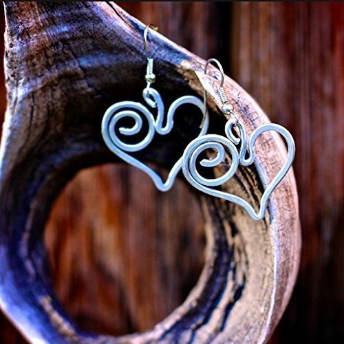 Meaningful Jewelry: Follow Your Heart Earrings. Handmade with love and purpose in the Dominican Republic by Madres Jewelry. (Handmade Wire Jewelry compare prices)