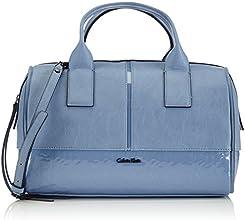 Calvin Klein Jeans MADDIE DUFFLE, Sac porté main - Femme - Bleu - (INFINITY BLUE 914) - Taille unique