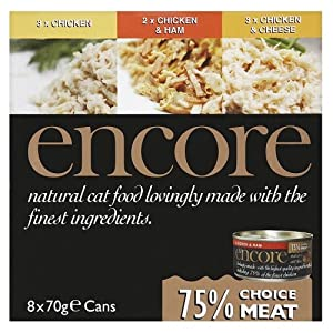 Encore Cat Tin Chicken Multipack 8 x 70 g (Pack of 4, Total 32 Cans)