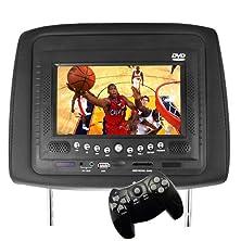 buy Car Headrest Dvd Player/Game System Black (Single) - 7 Inch Vehicle / Car Video