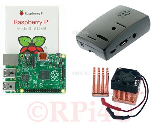 Raspberry Pi Model B+ 512 Mb Plus Case Plus Copper Heatsink With Fan