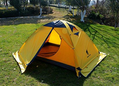 GEERTOP® 2-Personen 4-Jahreszeiten Aluminiumstangen Wasserdichten Camping Kuppelzelt – 140 x 210 x 115 cm – Ideal für Camping, Beim Klettern und Jagen - 8