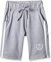 People Boys' Shorts (P30501166024383_Grey Melange_2-3 Yrs)
