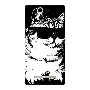 Thug Cat Back Case Cover for Sony Xperia C3