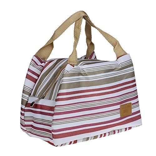 """Sac à Déjeuner Sac Fraîcheur Portable Isotherme tirette Sacs de courses et cabas Lunch Bag, 8.3*5.5*6.3"""" (Gris)"""