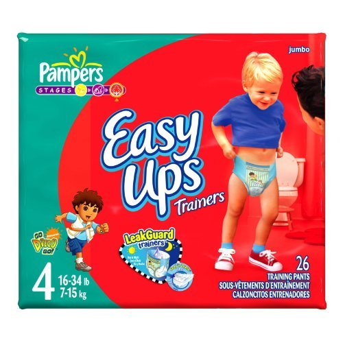 Pampers Easy Ups Diapers, Boy, Size 4, 26-Count For sale   Best size