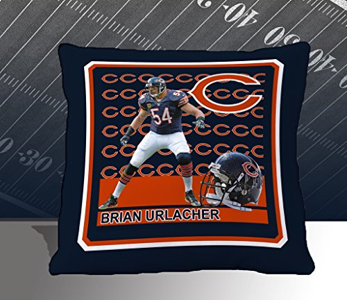 Nfl Biggshots Bedding - Chicago Bears Brian Urlacher Toss Pillow, 18-Inch front-741631