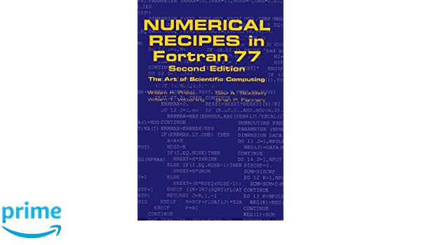 numerical recipes in fortran 77 pdf