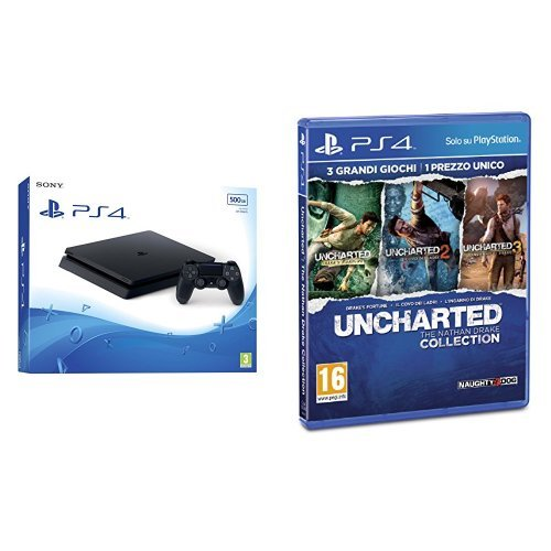 PlayStation 4 500 Gb D Chassis Slim + Uncharted: The Nathan Drake Collection