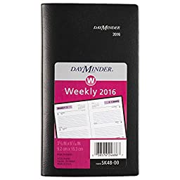 DayMinder Weekly Pocket Planner 2016, 3-5/8 x 6-1/16 Inches Page Size, Black (SK480016)