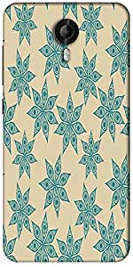 Snoogg Colorful Floral Seamless Pattern In Cartoon Style Seamless Pattern Designer Protective Back Case Cover For Micromax Canvas Nitro 3 E455
