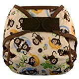 Blueberry Coveralls Diaper Cover Hook/Loop, Monkeys