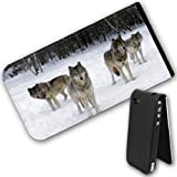 Wolves Leather Flip Case Cover for Apple iPhone 4 / iPhone 4S