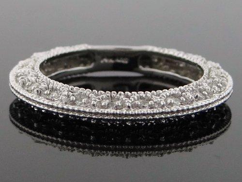 Designer Women's Wedding Band Ring 14k White Gold with 0.50ct Diamonds WG-WB-R196-JGK