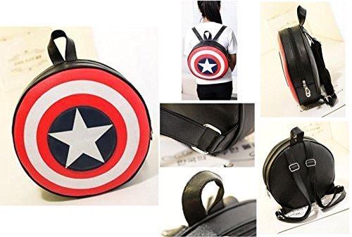 Nido del Bimbo 1000400 - [PICCOLO] Zaino Zainetto Borsa Captain America (Capitan) - Scudo Shield 2 dimensioni (Piccolo 33x33cm)