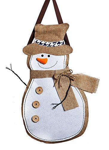 Snowman Burlp Door Decor (Spring Wreaths Outdoor compare prices)