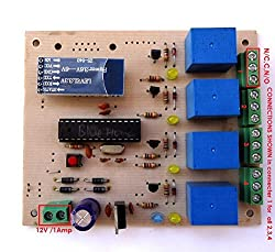Android APP base Bluetooth operated home load automation 4 -channel relay switch