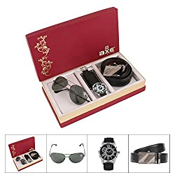 AXE style Combo of Watch , Belt and Sunglass Mens Combo - X3502WBS