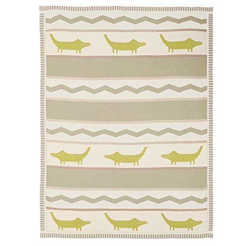 Lolli Living Cotton Knit Blankets, Alligator